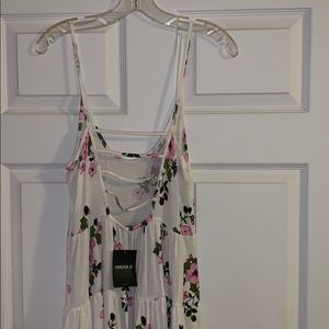 Forever 21 Dresses - Brand new tags, ivory and pink shirt floral dress